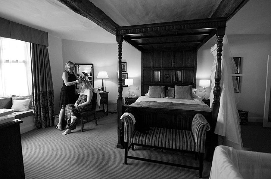 """Shakespeare Hotel"" ""Stratford Upon Avon"" wedding photography  bride getting ready"