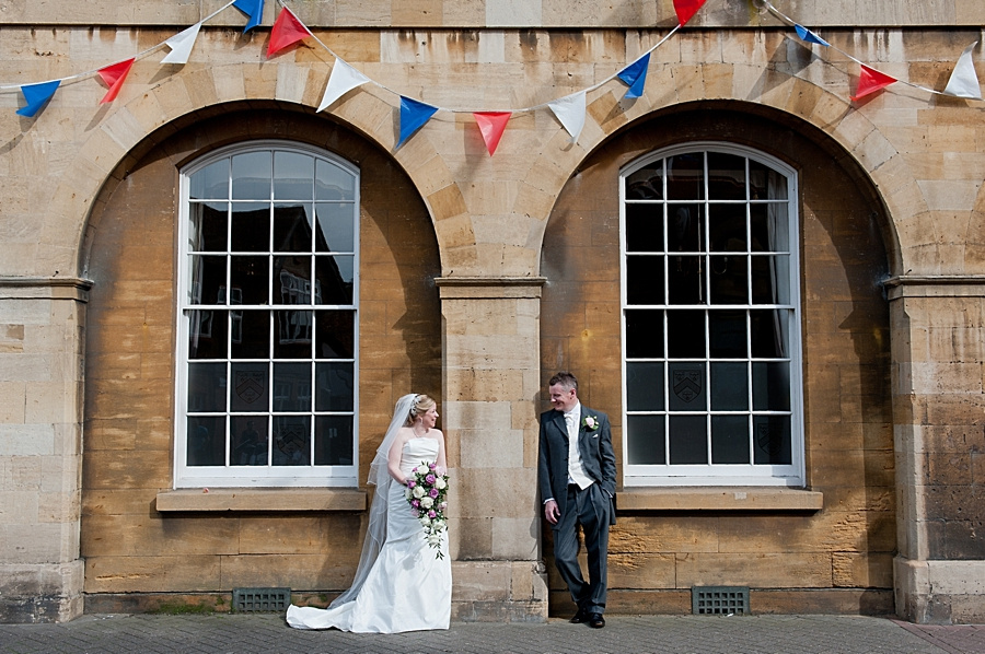 """""""Stratford Upon Avon"""" wedding  photographer couple portraits arch bunting jubilee"""