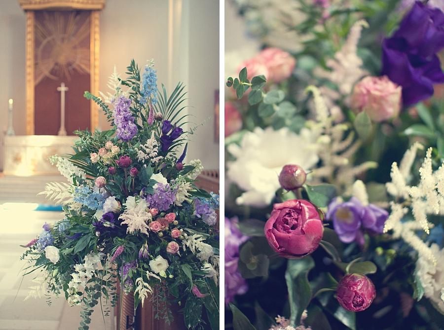 Bournville Church flowers wedding vintage wedding photographer Birmingham