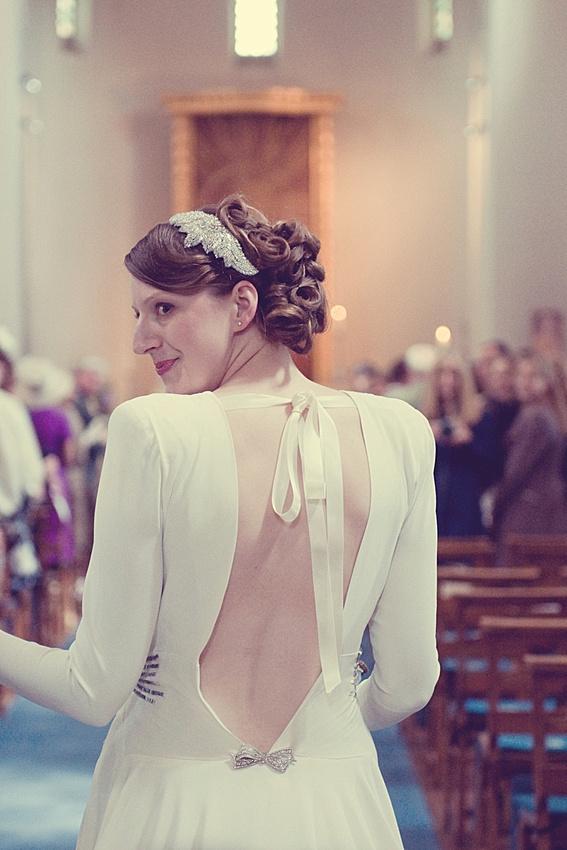 "vintage wedding dress ""St Francis"" Church Bournville Birmingham"