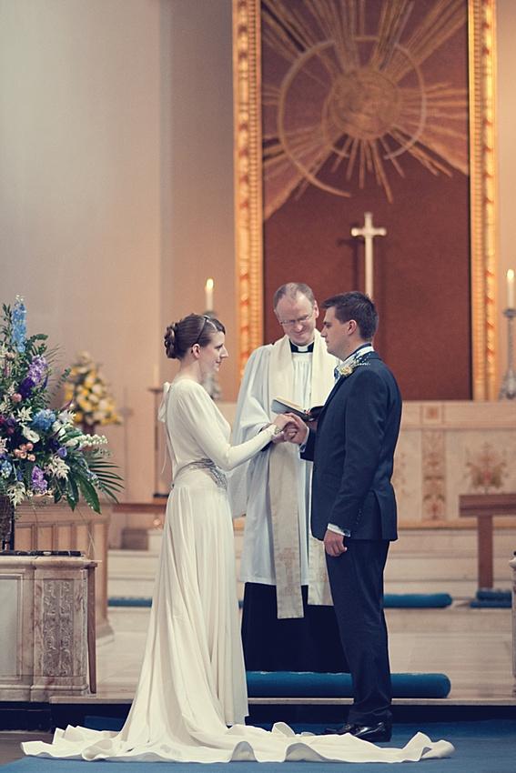 """St francis"" Church Birmingham wedding photography vintage dress"