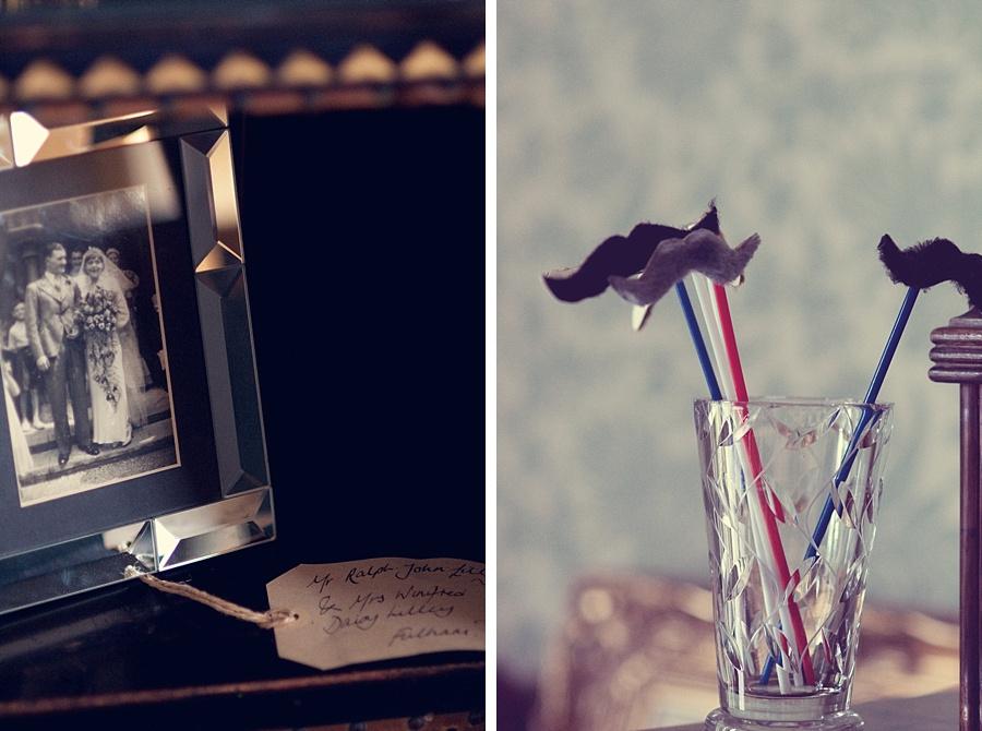 "vintage photo frame moustaches ""on sticks"" Birmingham alternative wedding photographer"