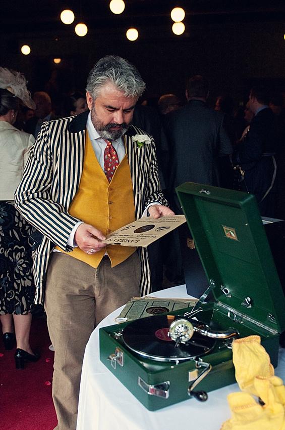 """gramophone vintage wedding """"Highbury Hall"""" Moseley"""