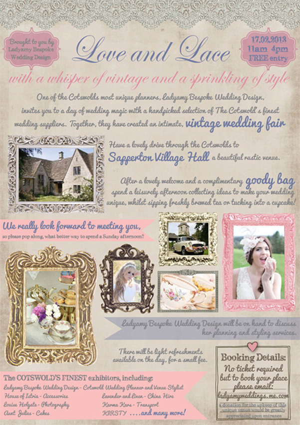 vintage wedding fair Cotswolds Sapperton village