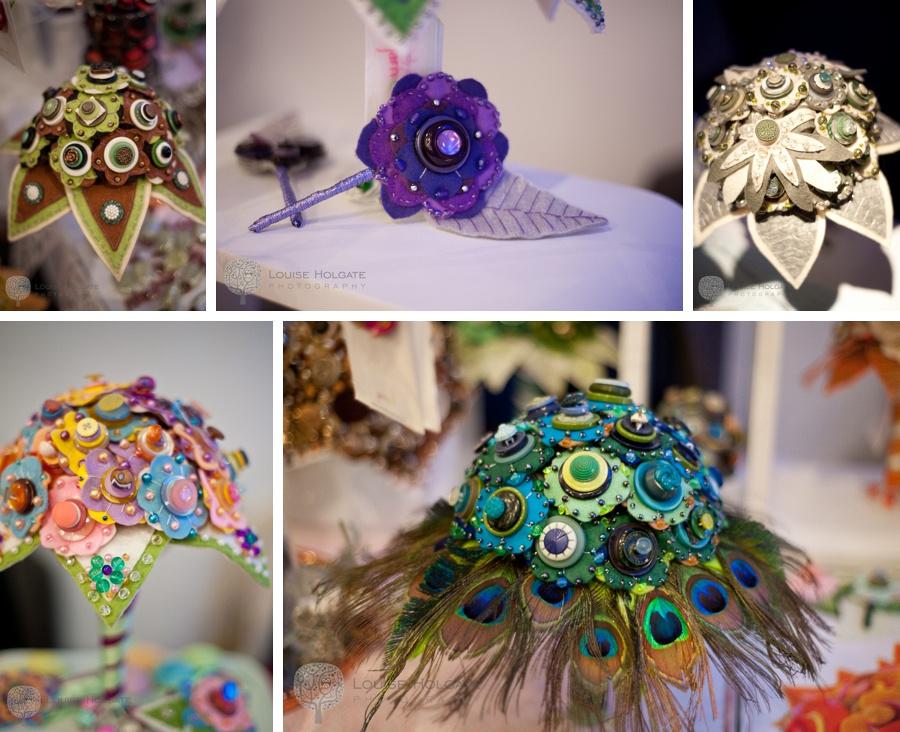 Jamball felt button bouquets buttonholes wedding quirky handmade