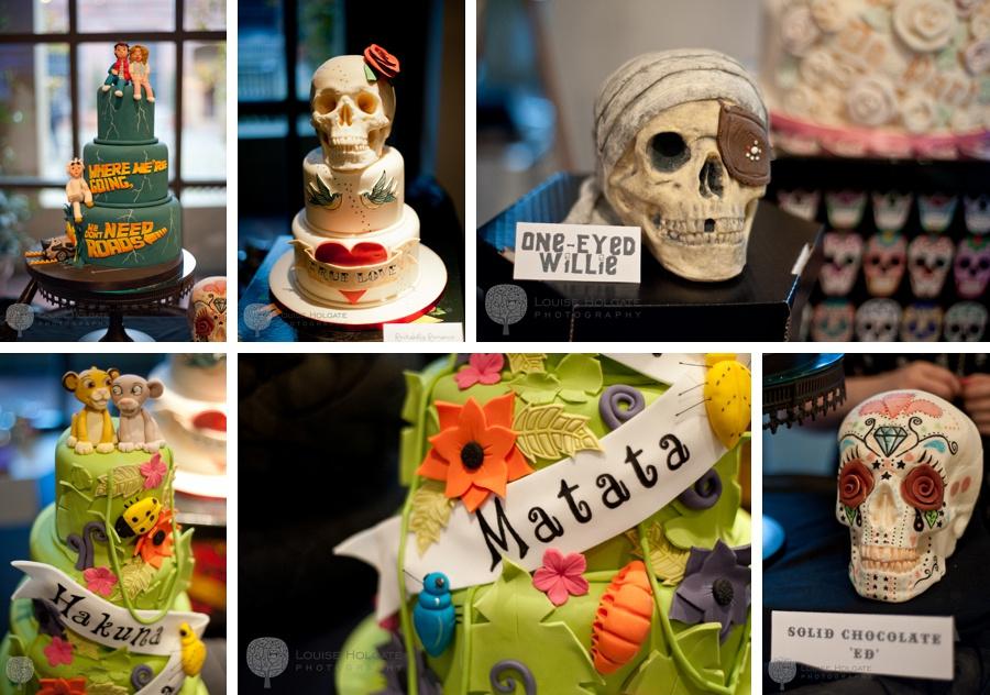alternative wedding cake skull
