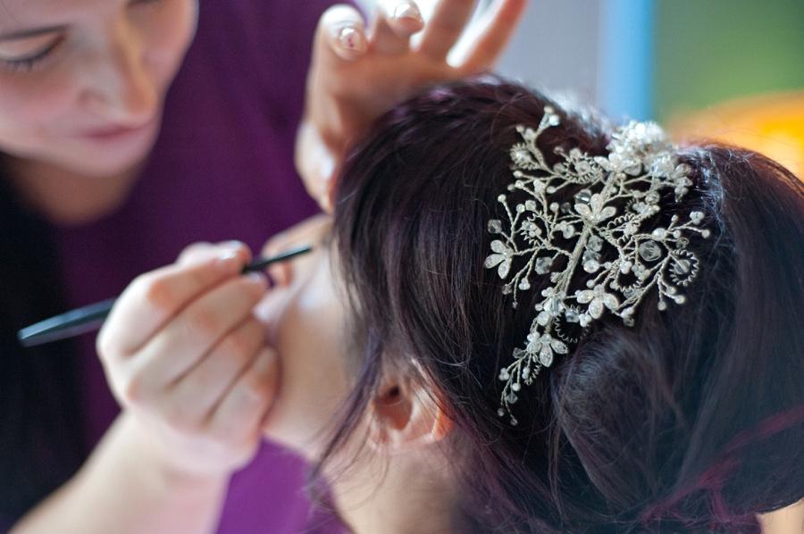 bride make up preparation Birmingham wedding