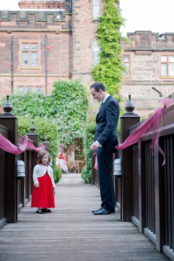 New Hall Sutton Coldfield bride little girl