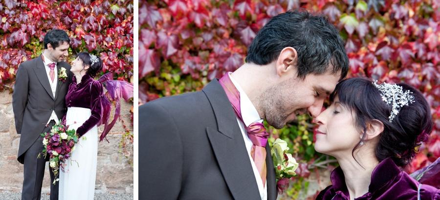 bride groom Autumn portrait romantic relaxed wedding photography New Hall Midlands