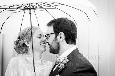 Fazeley Studios wedding vintage dress umbrella snow Birmingham photographer photography
