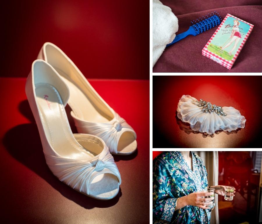 "vintage wedding photography photographer ""Fazeley Studios"" Birmingham  bridal preparation shoes gin documentary"