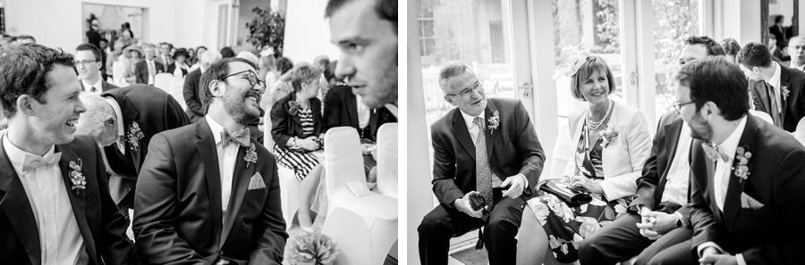 "Birmingham wedding photographer ""Fazeley Studios"" vintage photography groom ""best man"" laughing ""bow ties"""