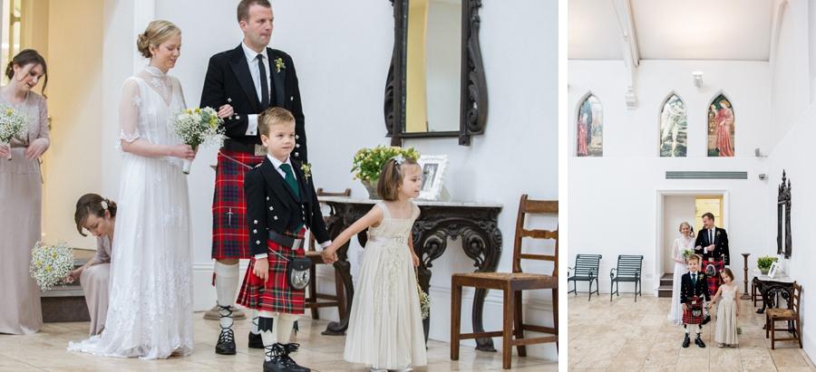 "Birmingham wedding photographer ""Fazeley Studios"" vintage dress photography bride walking in kilt"