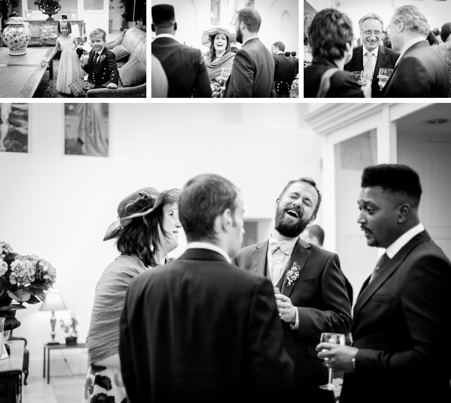 """Birmingham wedding photographer """"Fazeley Studios"""" vintage photography candid documentary guests laughing"""