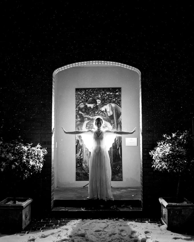 "Birmingham wedding photographer ""Fazeley Studios"" ""vintage dress"" silhouette night snow flash photography speeches reactions"