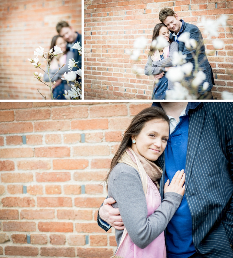 pre-wedding, photo, shoot, photos, Redhouse Barn, Stoke Prior, Worcestershire, Bromsgrove, brick, wall, couple, magnolia