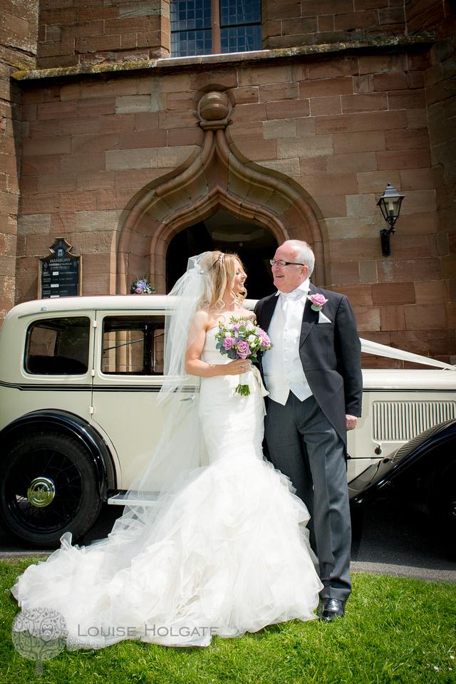 wedding, Hanbury, Worcestershire, bride, getting ready, Vera Wang, dress, natural, documentary, photography, church, vintage car