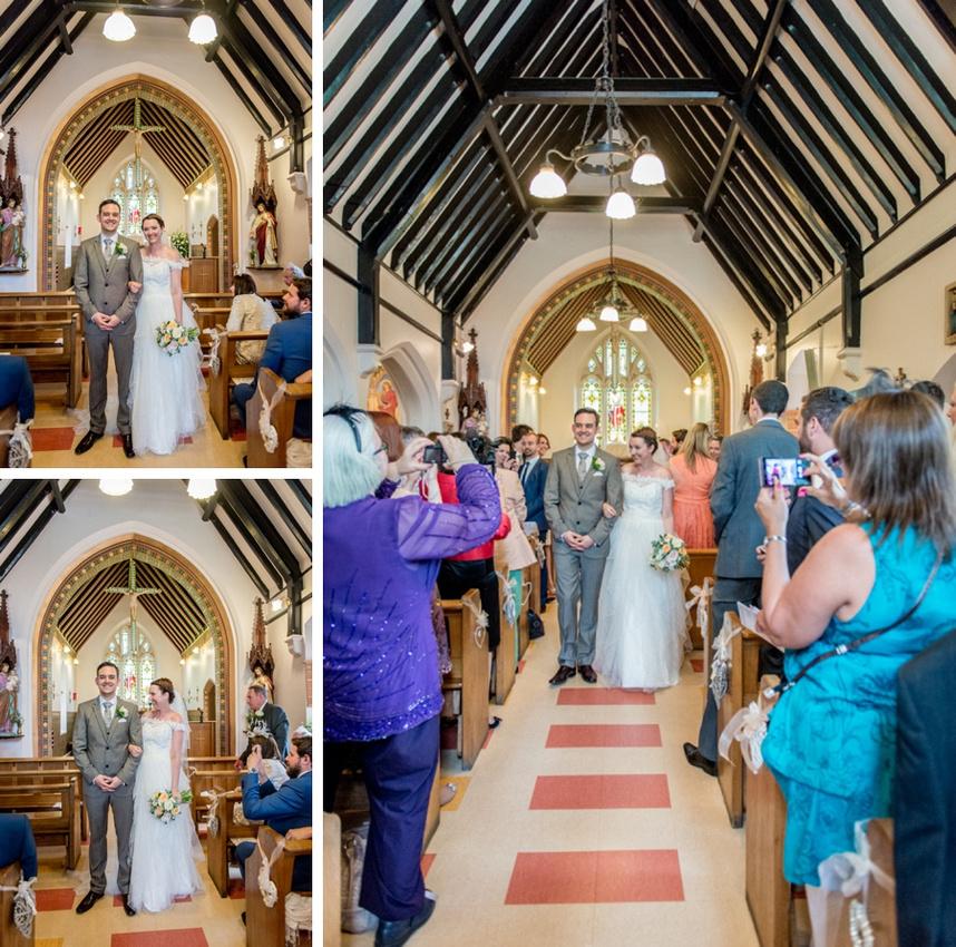 bride, groom, wedding, church, Kenilworth