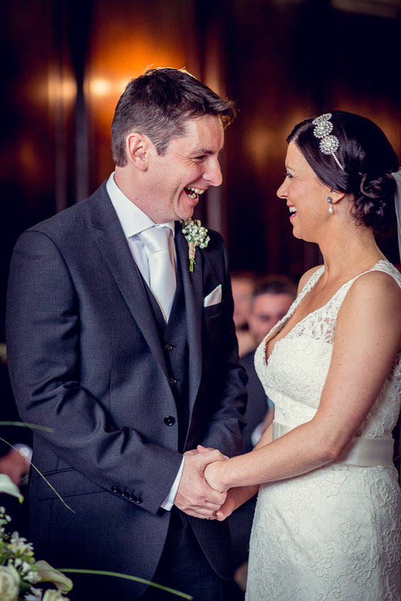 Just married at Hercules Hall in  Portmeirion