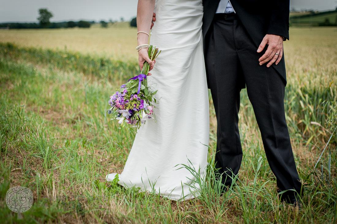 bride, bouquet, wild, natural, flowers, field