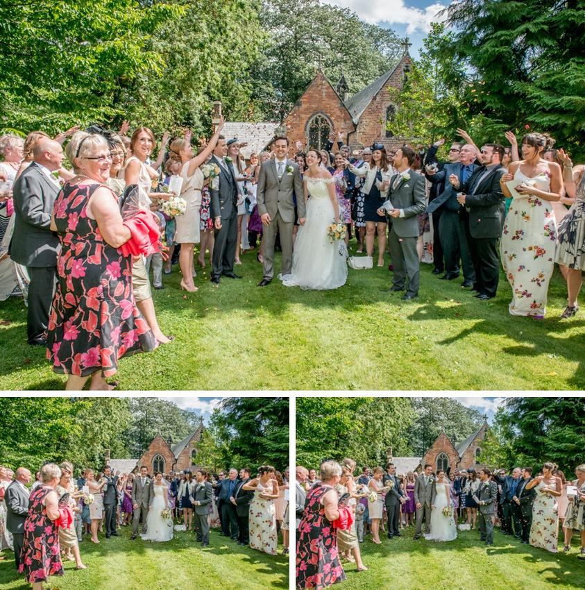 confetti, wedding, Kenilworth, Warwickshire, St Augustine
