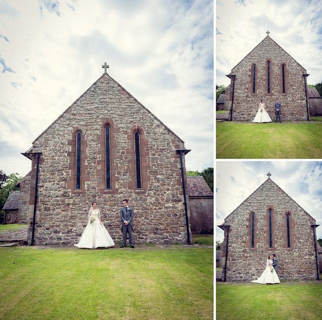 Ditton Priors church wedding bride groom
