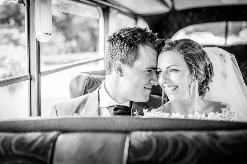 bride groom vintage bus Shropshire
