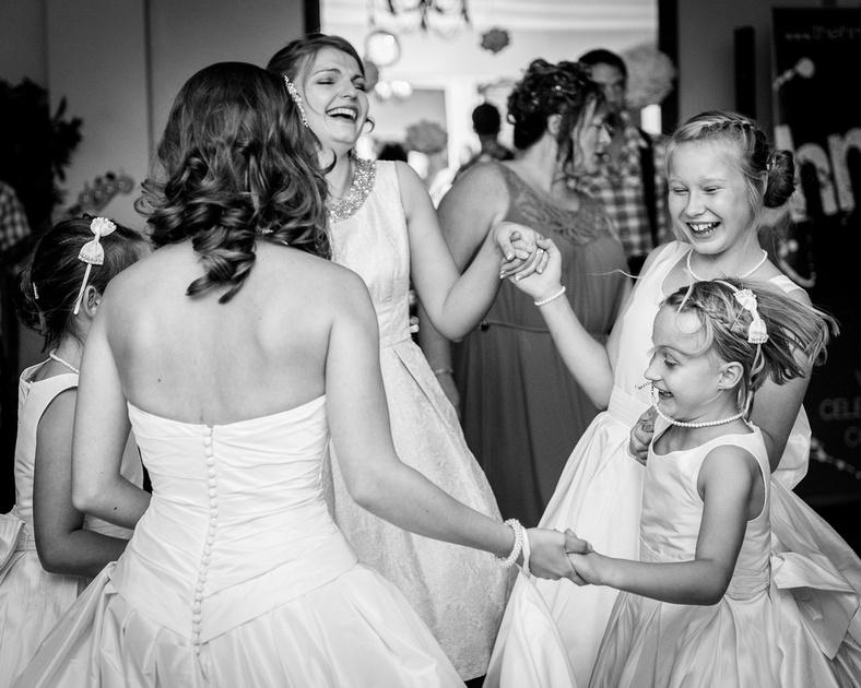 bridesmaids dancing Telford Hadley Park House Hotel