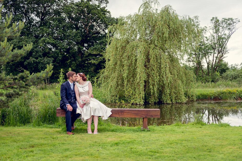 romantic portrait at Wootton Park  wedding