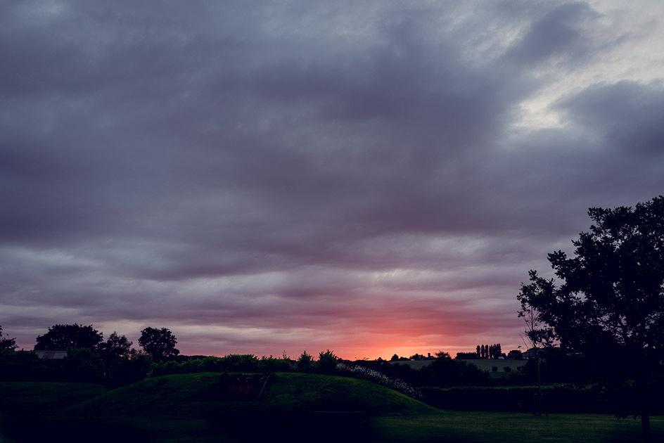 sunset at Wootton Park in Warwickshire