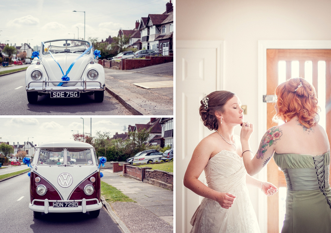 vintage VW convertible and camper van for Birmingham wedding