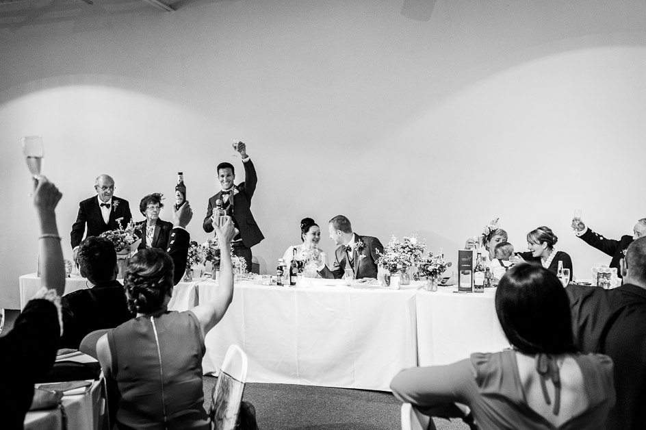 toast at the end of wedding speeches