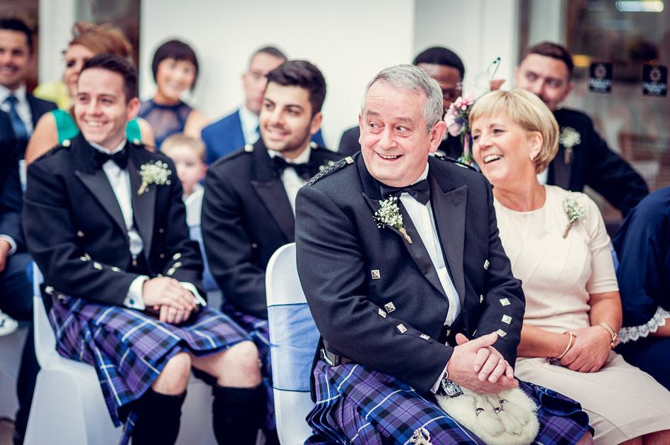 proud parents at Birmingham wedding