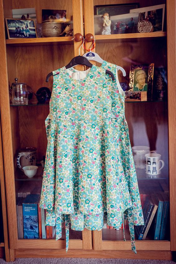 Liberty print hand-made bridesmaid's dresses