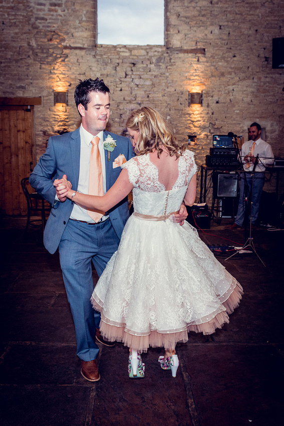first dance at Cripps Barn in the Cotswolds