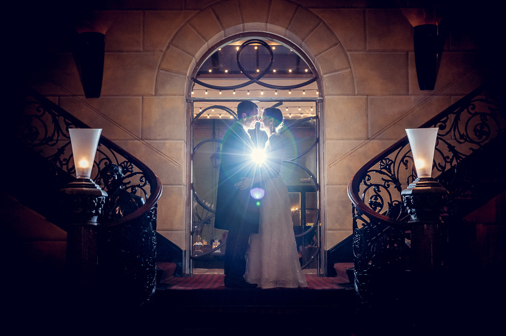 beautiful wedding portrait at Hotel du Vin in Birmingham