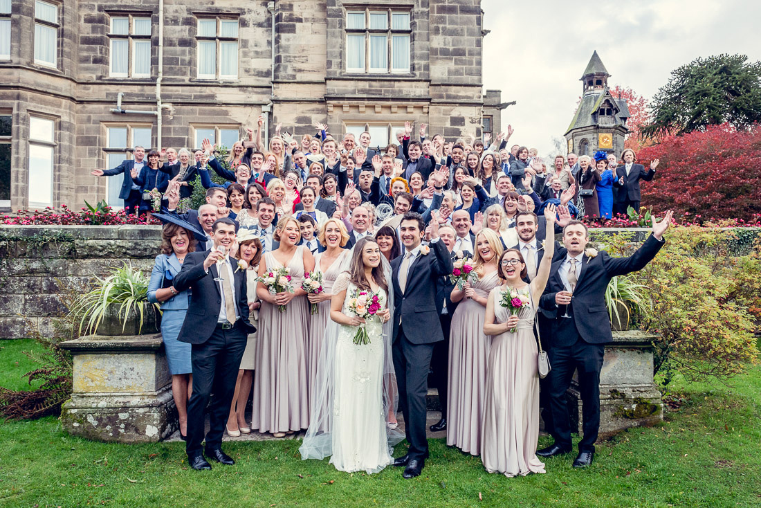 wedding group shot at Hampton Manor
