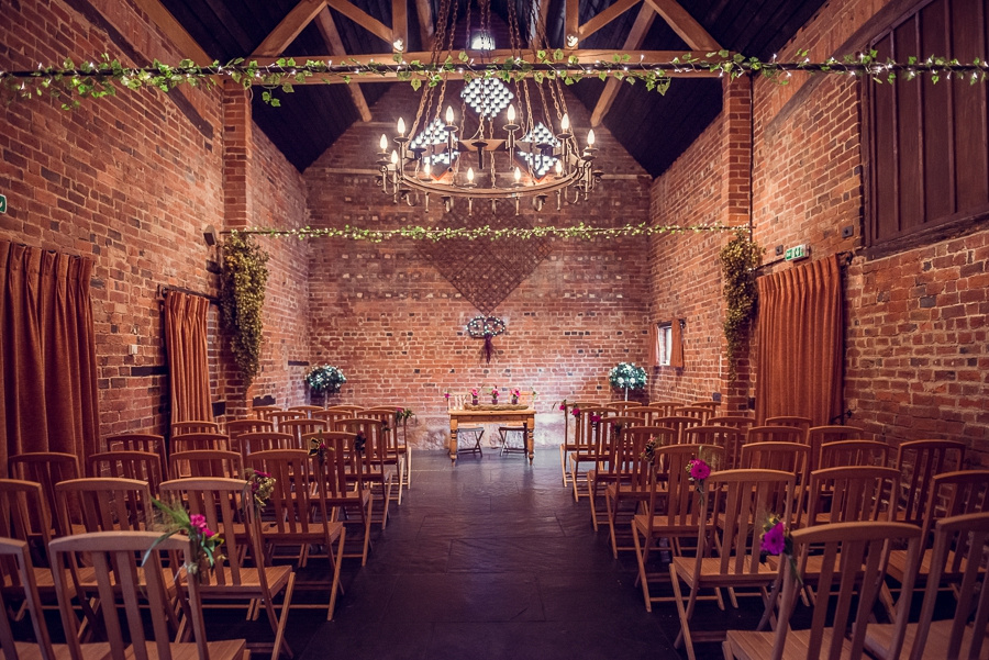 Wedding Photography at Curradine Barns in Worcestershire cosy barn fairy lights