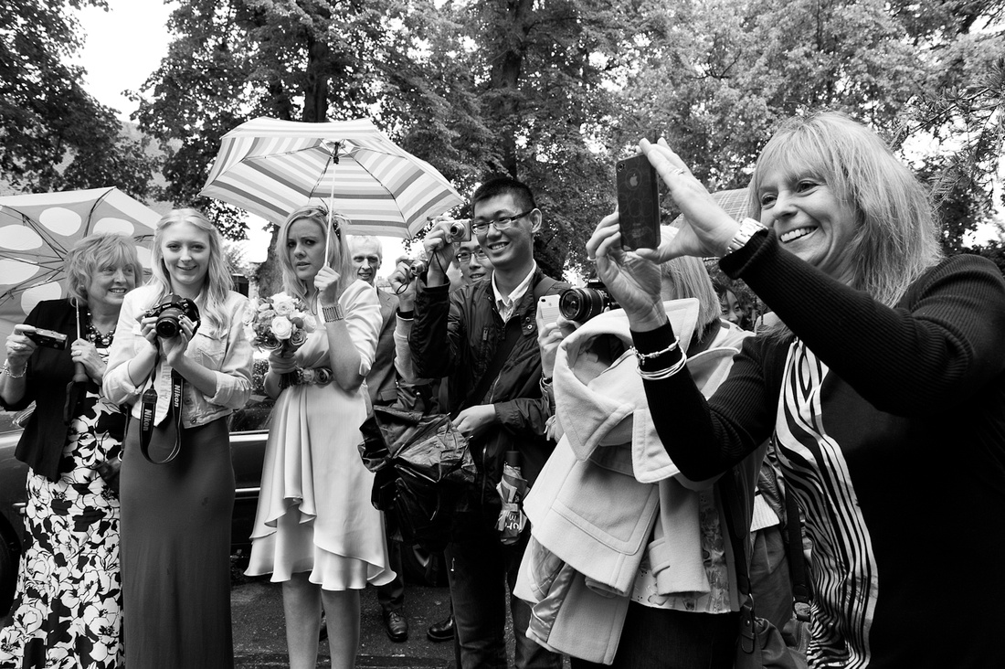 wedding Stratford tourists cameras pictures candid reportage documentary