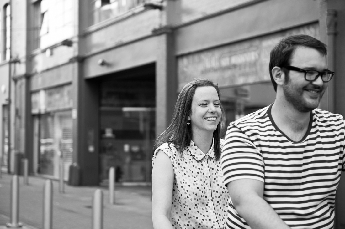 Custard Factory tandem couple photography pre-wedding fun
