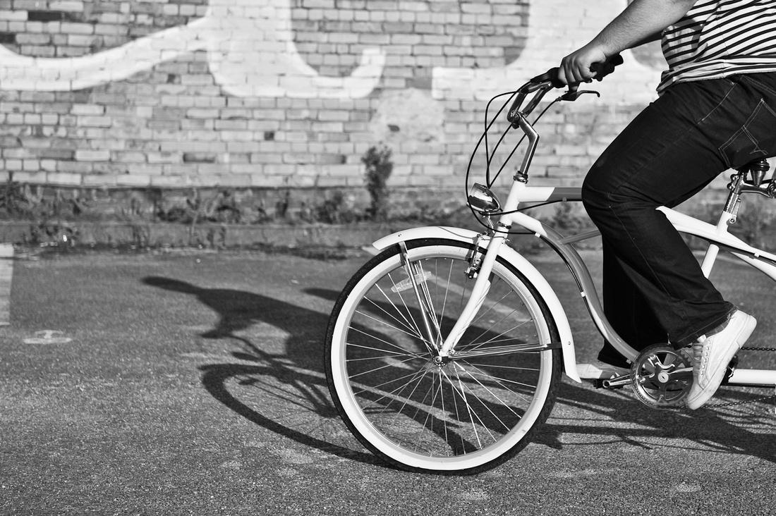 bike bicycle Birmingham pre-wedding quirky photography