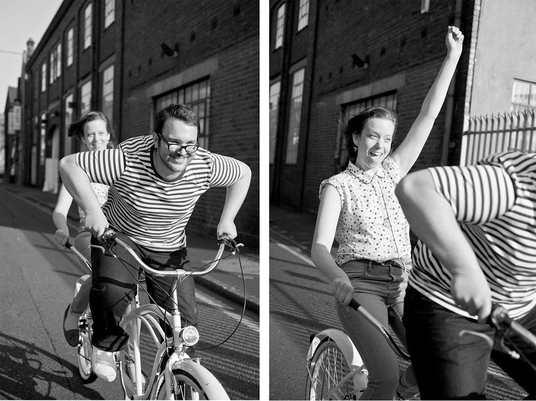 tandem fun bicycle relaxed Birmingham contemporary photography