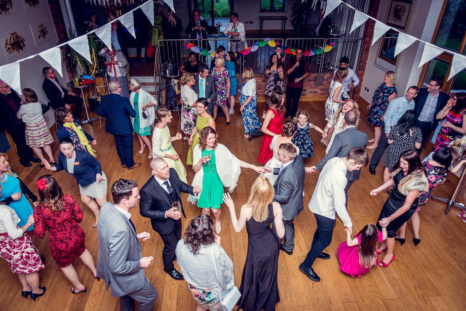guests dancing Wootton Park wedding