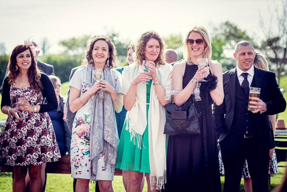 guests enjoying speeches outdoors at Wootton Park