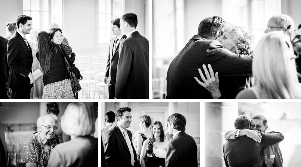 guests before wedding at Compton Verney art gallery