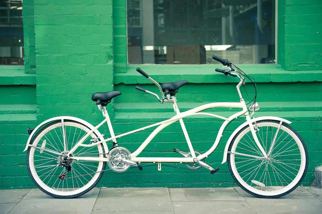 tandem bicycle Digbeth Birmingham quirky photo shoot