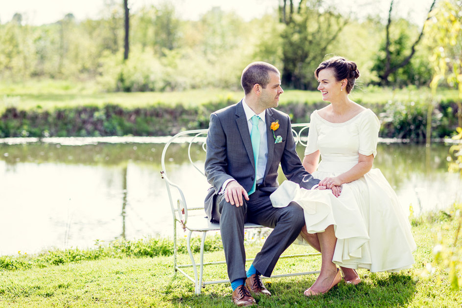 romantic portrait by the lake at Wootton Park in Warwickshire