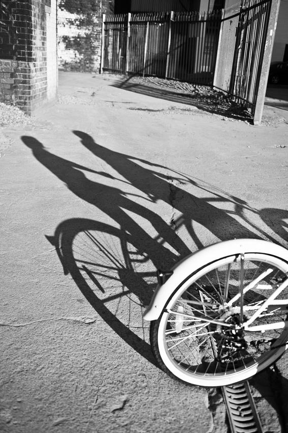 tandem bike bicycle shadow Digbeth Birmingham