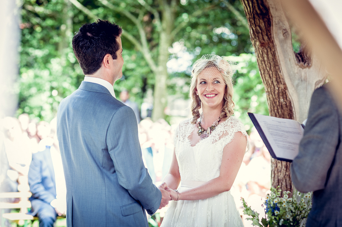 outdoor ceremony at Cripps Barn