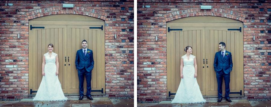 Wedding Photography at Curradine Barns in Worcestershire bride groom portrait doorway